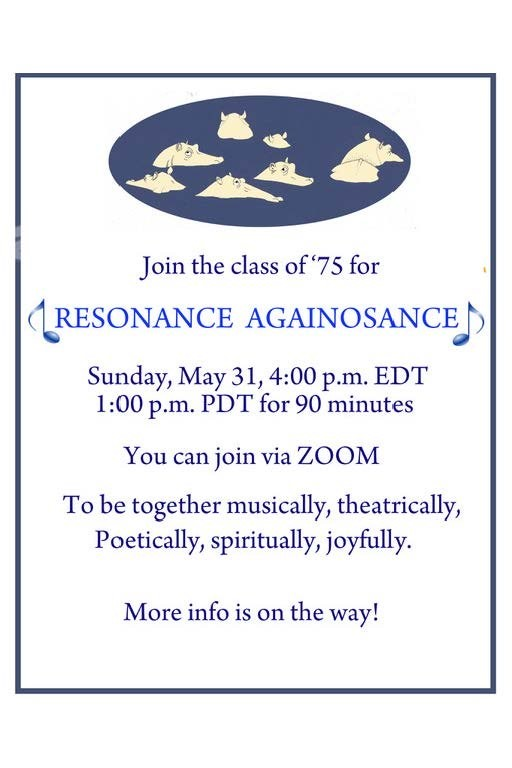 invite from 1975 class to may 31 virtual event