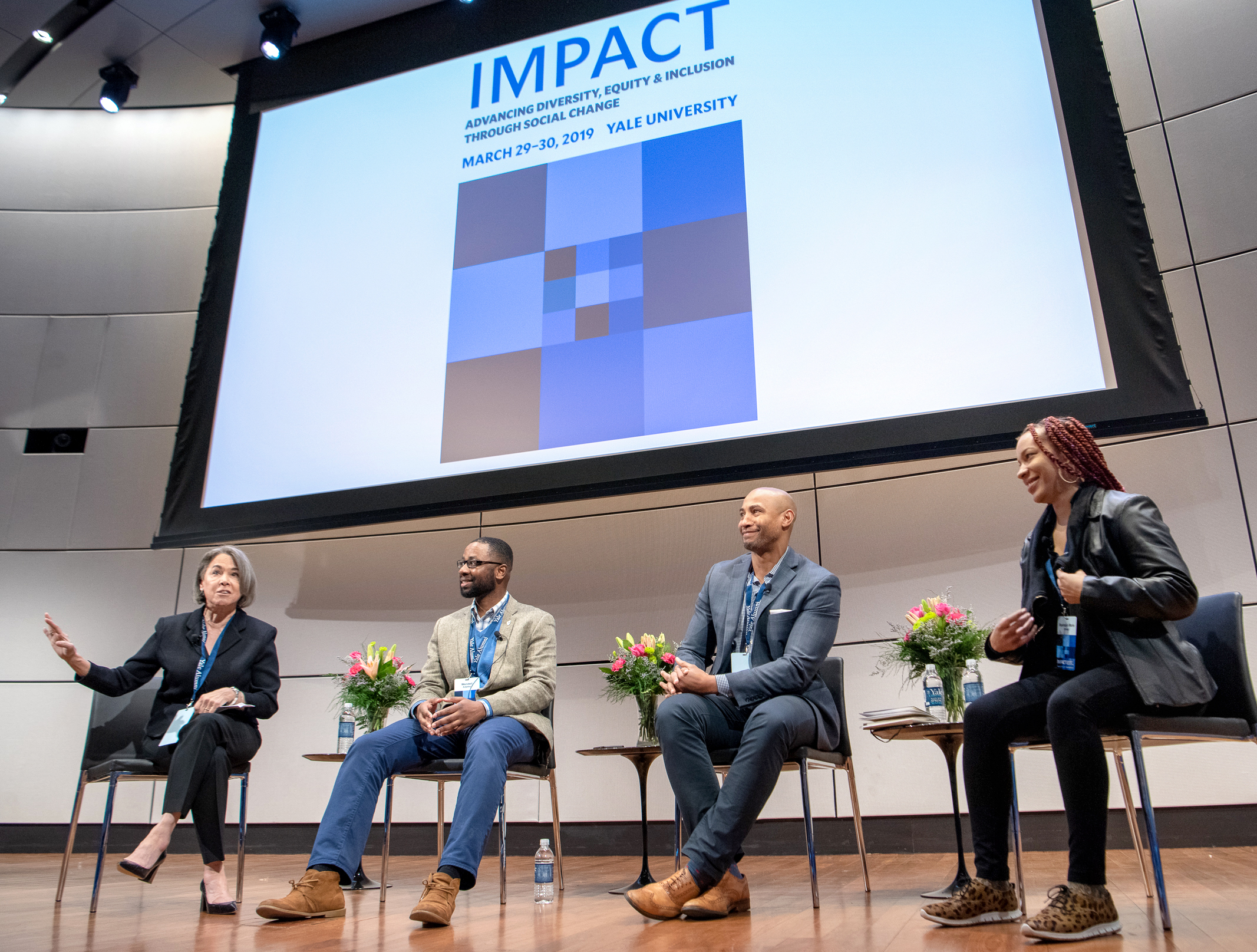 Panelists at the 2019 DEI Impact Conference in New Haven