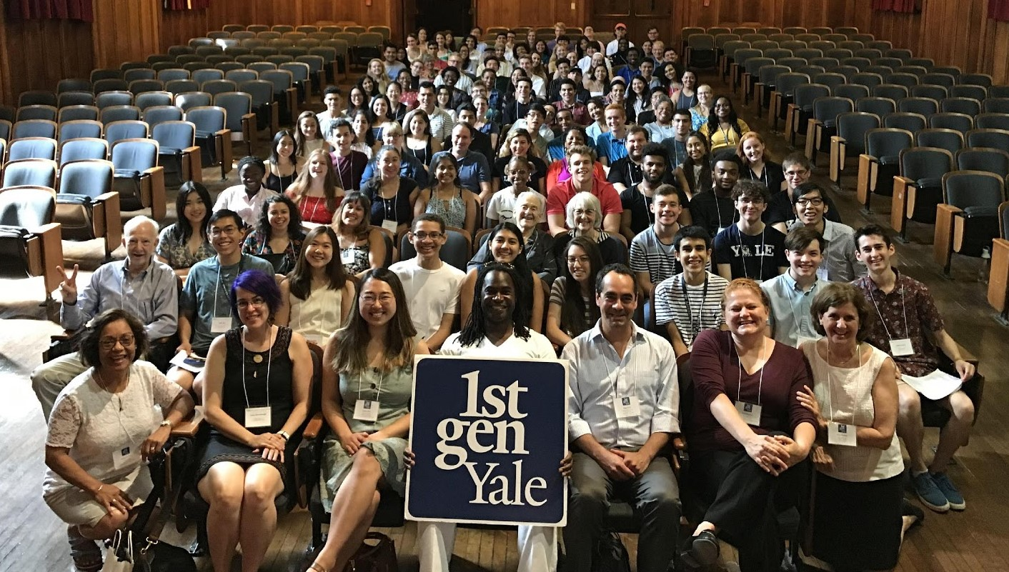 Alumni gather at the 1stGenYale event, Navigating Yale and Beyond