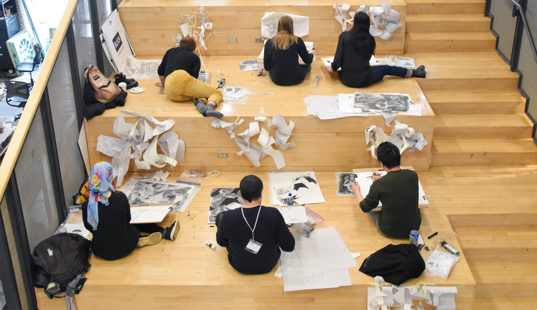 Students work during one of the Robert Reed Drawing Workshops.