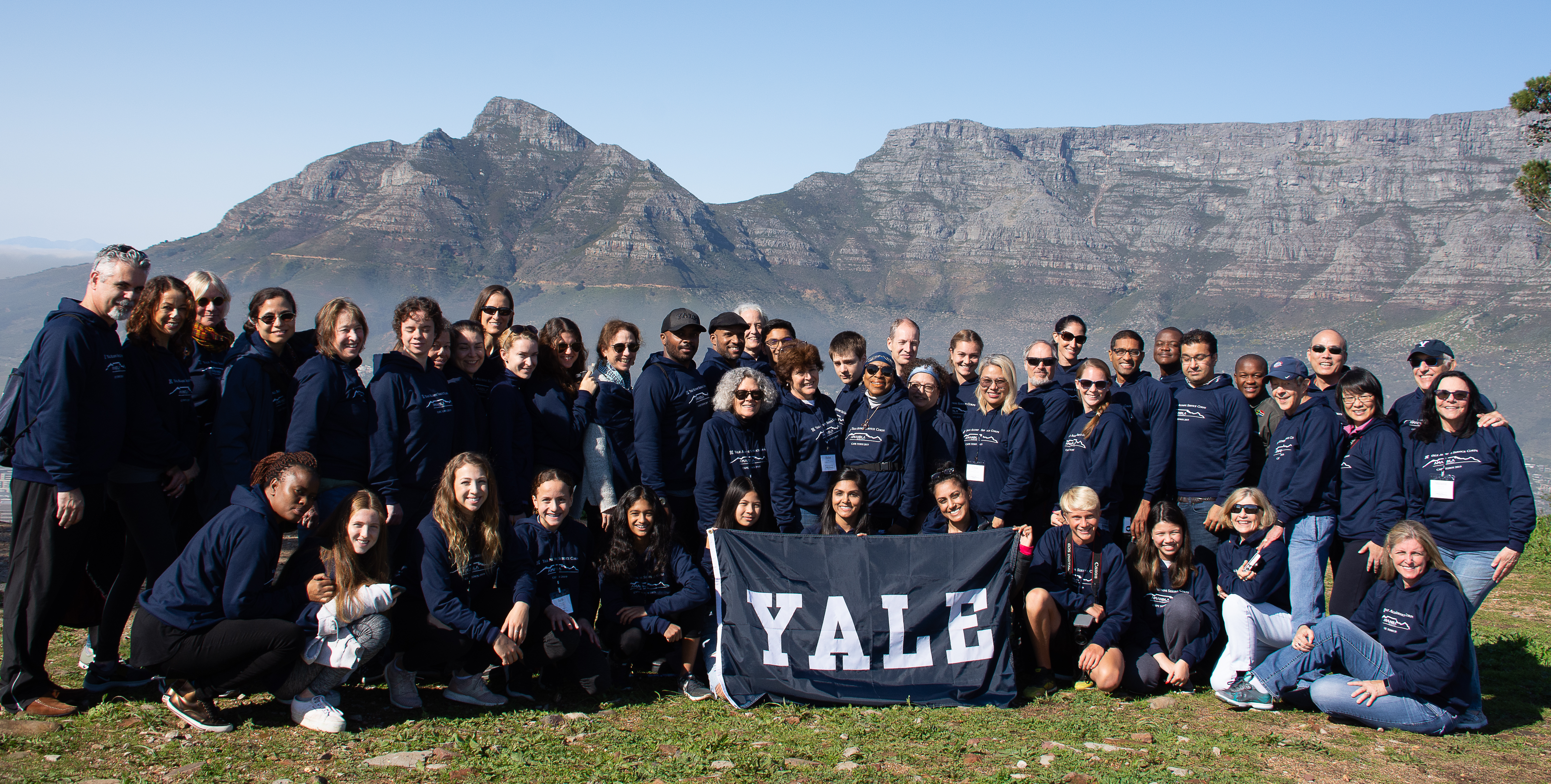 Yale Alumni Service Corps volunteers gather in Cape Town.