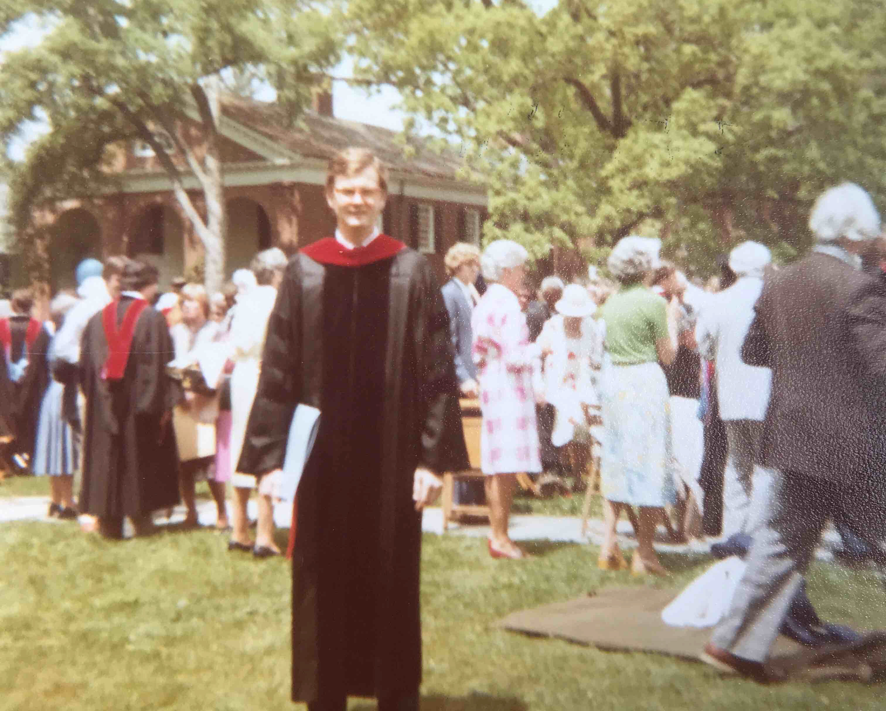 Succop at Commencement, without mortarboad.