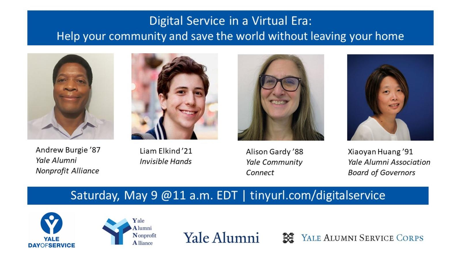 "Promotional graphic for the webinar, ""Digital Service in a Virtual Era."""