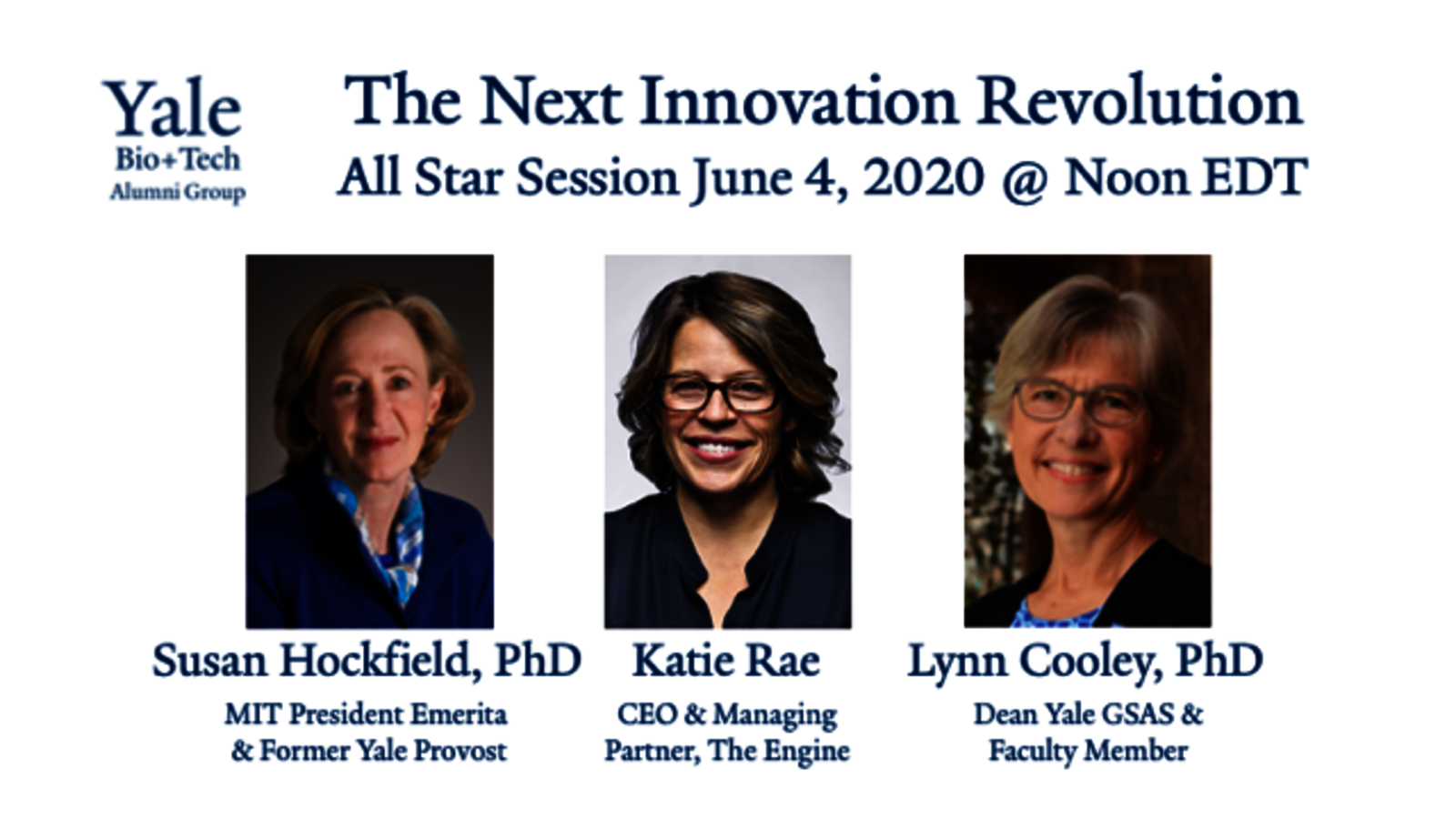 "Graphic for webinar, ""The Next Innovation Revolution: Biology, Engineering, the Sciences & Our Future"""