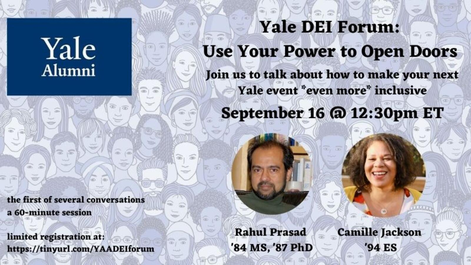 "Graphic for webinar, ""Open Forum: Use Your Power to Open Doors"""