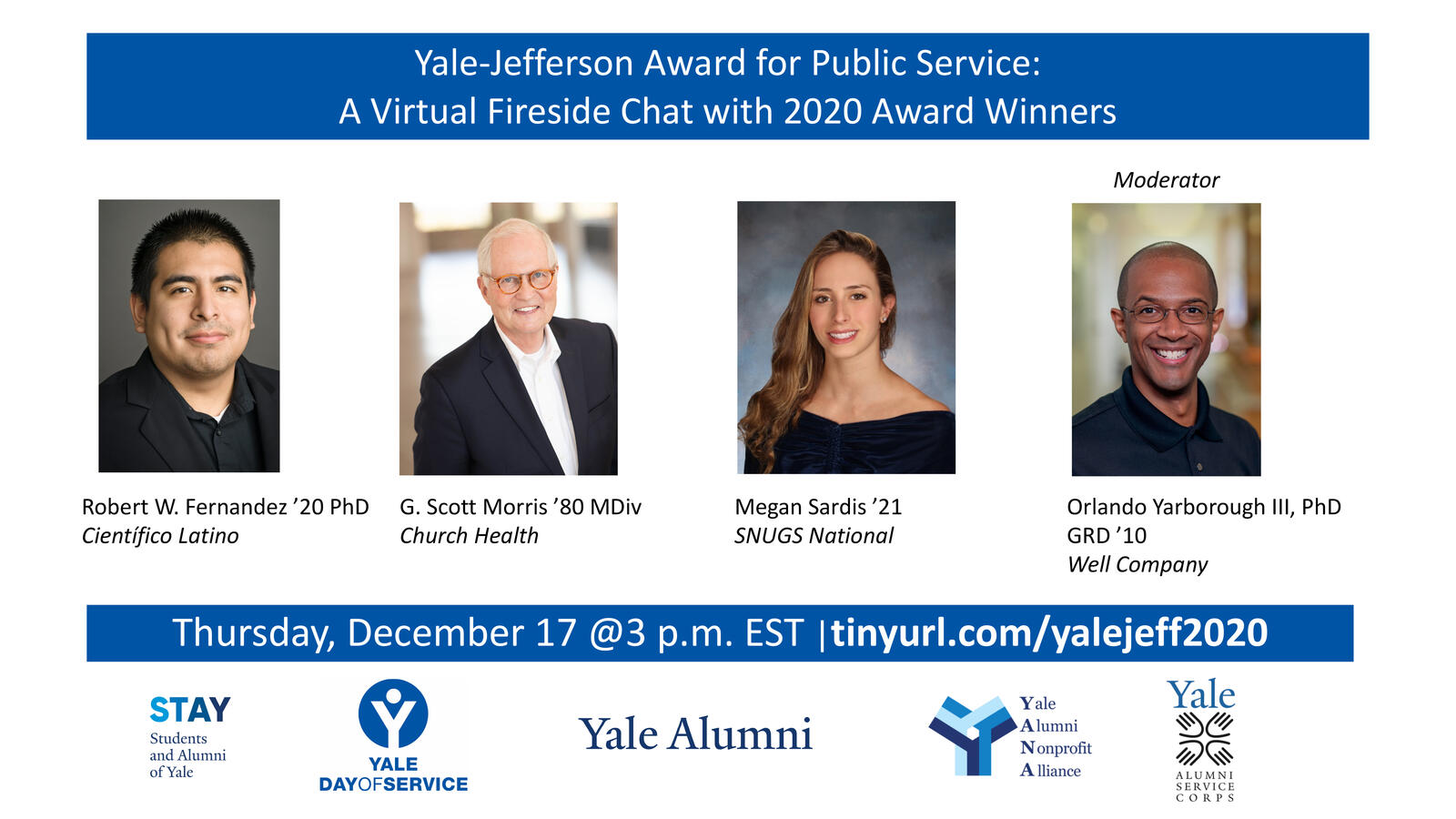 Yale-Jefferson Award Virtual Fireside Chat