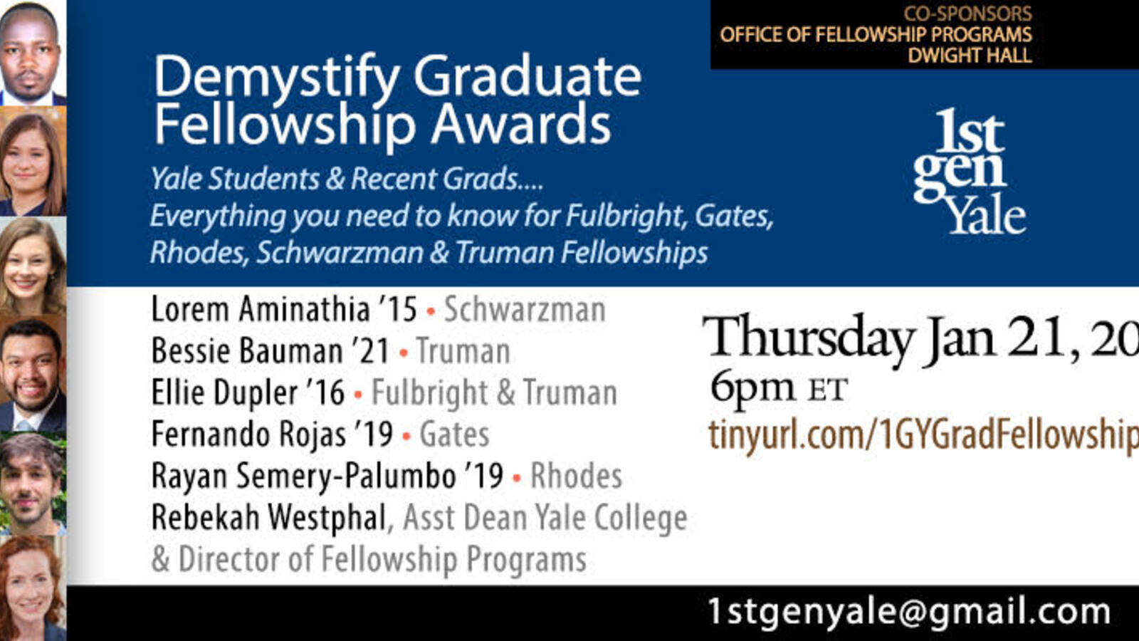 1stGenYale Demystify Graduate Fellowship Awards
