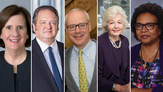 Photos of the five Yale Medal honorees in 2018