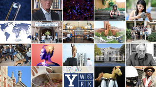 A collage of photos looking back at Yale's year in 2018