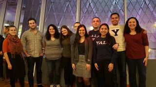 JC Salinas '03 MFA (fourth from right) poses with some of Y Tu Tambien's students.