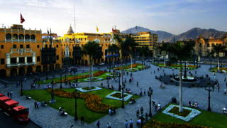 Image of a public square for the Yale School of Management event in Lima, Peru.