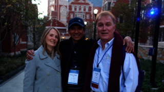 Left to right: L to R: Jill Allen, Terry Dunn '76, and Eric Allen '76