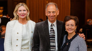 YAA chair Nancy Stratford, 2019 Lamar Award honoree Alan Kazdin, and YAA Executive Director Weili Cheng at the awards luncheon