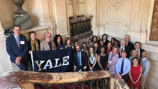 Alumni leaders and university partners at the Yale European Leadership Forum in Paris, France