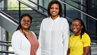 From left, Pozen-Commonwealth Fund Fellows Crystal Yates, Cecelia Calhoun, and Kennetha Gaines