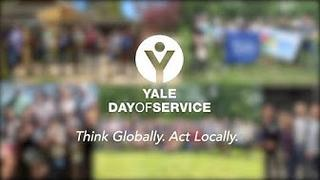 The opening frame to the 2019 Yale Day of Service video spotlighting Boston