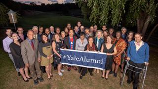 The members of the 2019-20 YAA Board of Governors gather during their September 2019 board meeting.