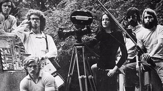 Alexis Krasilovsky '71 (center) with other Yale filmmakers