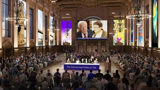 A rendering of the redesigned Commons in the Schwarzman Center