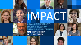 Promotion for the 2019 Impact Conference on diversity, equity, and inclusion
