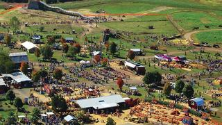 Aerial view of Cox Farm fastival