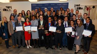 The recipients of the 2019 ASC Awards and the YAA Leadership and Excellence Awards