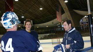 Mike Richter '07 participating in Rivalry On Ice