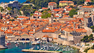 Adriatic & Agean Seas coastline with buildings