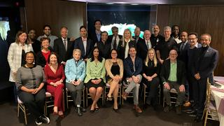 The members of the YAA Board of Governors at the Peabody Museum during their February 2020 board meeting.