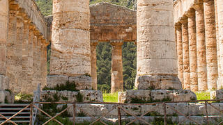 Columns of ancient building in Sicily