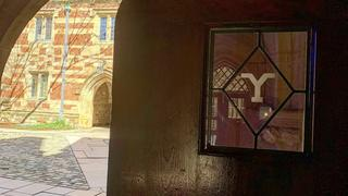 """Y"" on Branford College door"