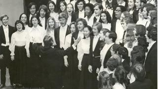 The Yale Glee Club performing, 1972-73
