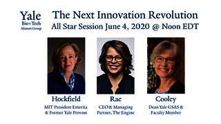 "Graphic for webinar, ""The Next Innovation Revolution: Biology, Engineering, & the Sciences of our Future"""