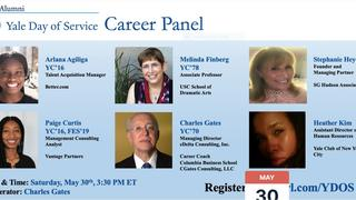 "Graphic for ""Day of Service - Career Panel Webinar"""