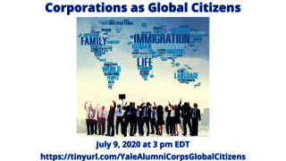 "Graphic for webinar, ""Corporations as Global Citizens"""