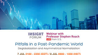 Pitfalls in a Post-Pandemic World by Yale Jackson Institute for Global Affairs Professor Stephen Roach