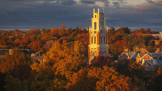 Franklin Tower, photographed by Jack Devlin in Fall 2019