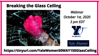 "Graphic for webinar, ""Breaking the Glass Ceiling"""
