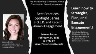 Best Practices Spotlight Series: B.O.L.D. and Recent Alumni Engagement