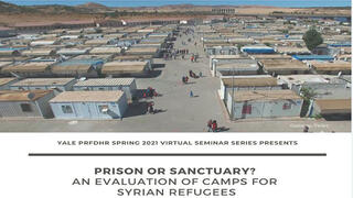 PRFDHR Seminar: Prison or Sanctuary? An Evaluation of Camps for Syrian Refugees, Dr. Thomas Ginn
