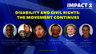 IMPACT 2: Disability and Civil Rights: The Movement Continues