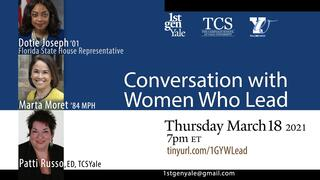 1stGenYale presents a Conversations with Women Who Lead