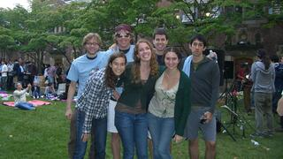 Lisa Marrone '10 and friends on campus during her time as a student at Yale College.