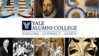 A collage of images of Yale Alumni College Summer 2021 courses