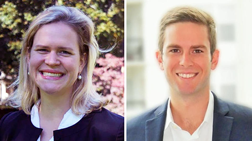 Frances Symes '14 MBA and Tim Colter '14 MBA