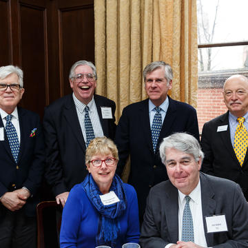 Professor Jay Gitlin and his fellow classmates from the Yale College Class of 1971 at the Laward Awards ceremony in April 2018.