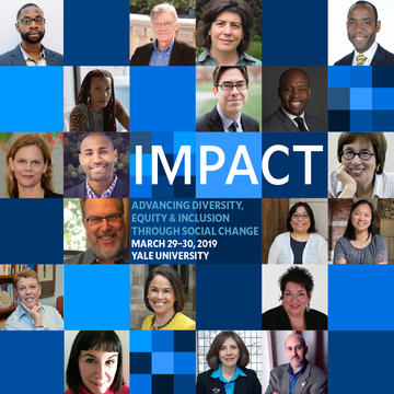 An image to promote the DEI Impact Conference, held on campus March 29-30, 2019.
