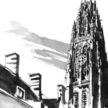 A sketch of Harkness Tower