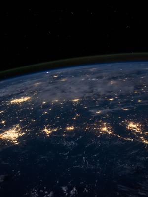 Photo of planet earth at night from outer space